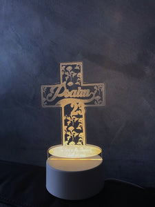 Psalm 23 Cross Acrylic night lamp