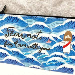 Fear Not - Blue Waves Zipped Pouch / Pencil Case