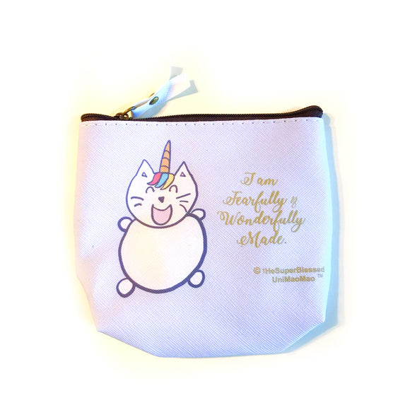 I am Fearfully & Wonderfully Made UniMaoMao PU coin pouch