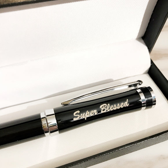Super Blessed Black Pen in gift box 3590