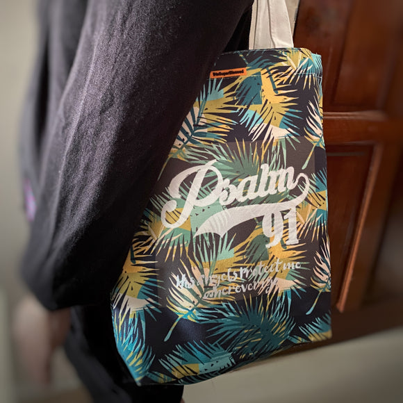 Psalm 91 Foliage Tote Bag