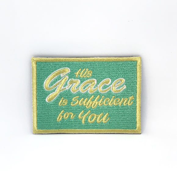 His Grace is Sufficient for you Verse-It Velcro Morale Patch