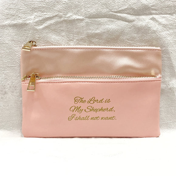 The Lord is my Shepherd Double Zipped Pouch / pencil case