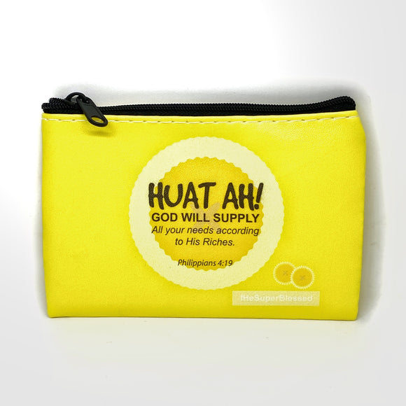 "PU coin pouch Huat Ah!- ""I'm a Singaporean Christian Lah!"" Series"