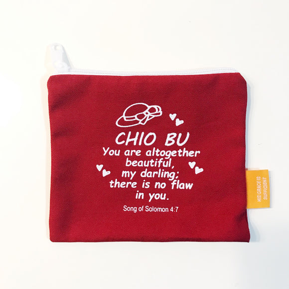 "Coin pouch 11x13cm Chio Bu (""I'm a Singaporean Christian Lah!"" series)"
