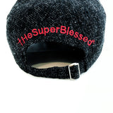 Super Blessed red on black baseball Cap with