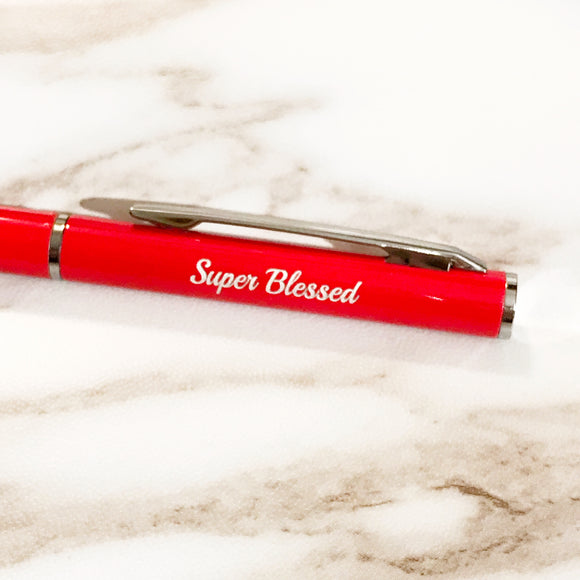Pen 690 Red Super Blessed
