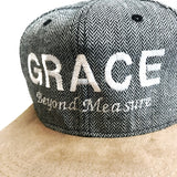 Grace Beyond Measure Cap Grey prints with brown visor