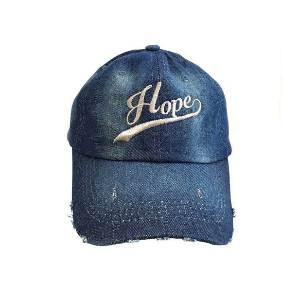 Hope Denim Christian Cap