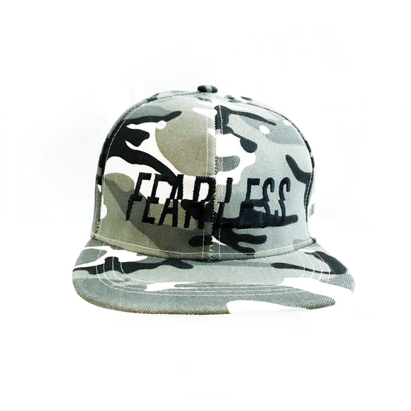 FEARLESS Grey camouflage cap