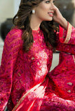 Red Chiffon Designer Suit 41748