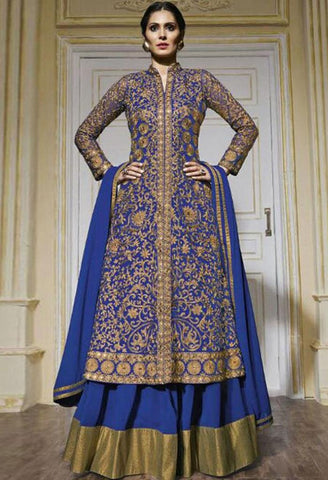 Blue Net Designer Suit 42321