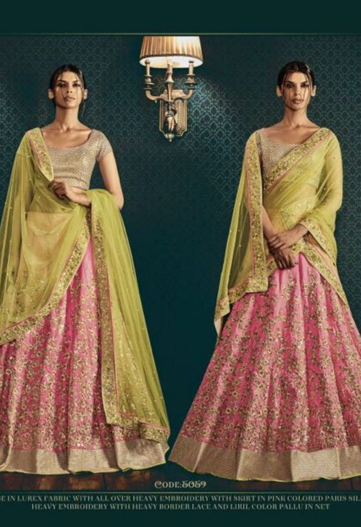 Parisilk Heavy Embroidered Skirt Lehenga