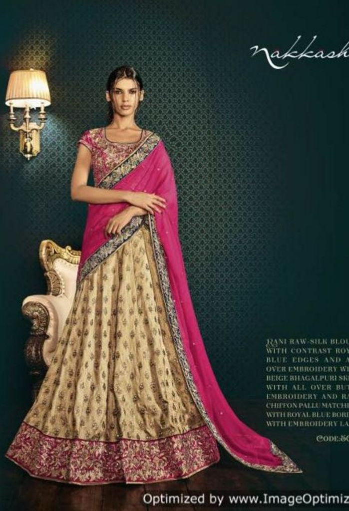 Skirt With All Over Bootis Embroidered Lehenga