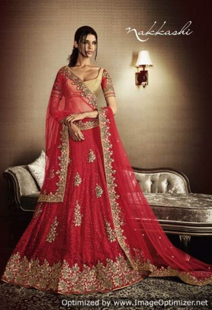 Skirt With Heavy Butta Embroidered Lehenga