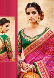 Bandhej Jaipur Embroidered Lehenga & Tussar Silk Blouse