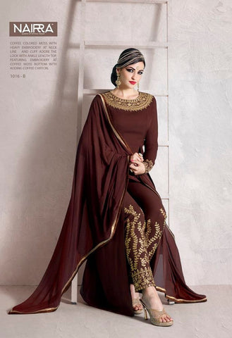 Heavy Embroidered Neck Line Salwar Kameez