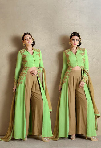 Embroidered U Cut In Front Salwar Kameez