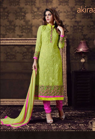 Green Designer Salwar Kameez Made With Georgette