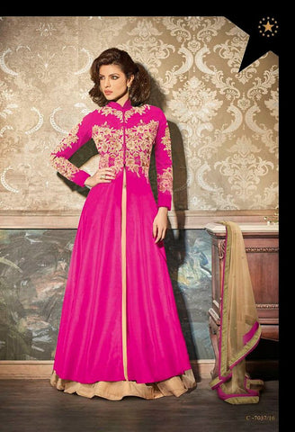 Partywear Salwar Made With ATG Top & Chiffon Dupatta