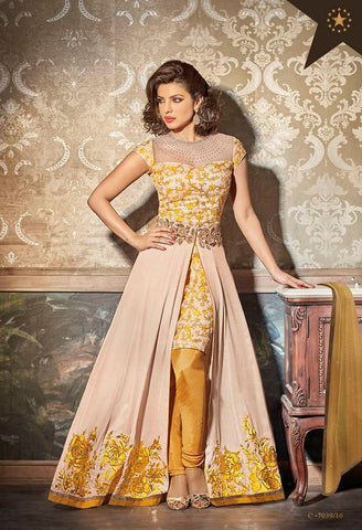 Partywear Salwar Made With Georgette & Chiffon Dupatta