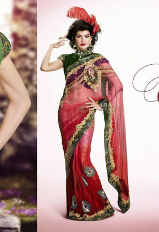 Partywear Designer Saree Made With Net