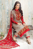 Cream Georgette Salwar Kameez With Printed Dupatta