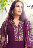 Purple Georgette Salwar Kameez With Printed Dupatta