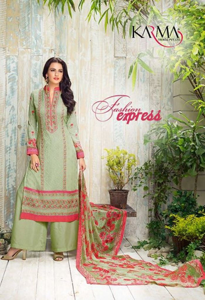 Green Georgette Salwar Kameez With Printed Dupatta