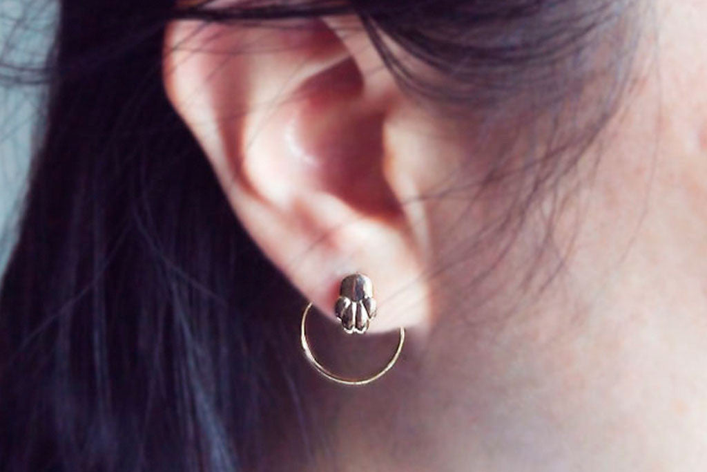 Jewelry - Cat or Dog Paw Earring - Two Perfect Souls