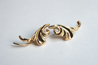 Jewelry - Acanthus Leaf Ear Climber - Two Perfect Souls