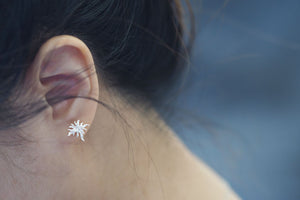 Jewelry - Delphinium Leaf Earring - Two Perfect Souls