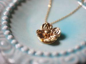 Jewelry - Floral Spinner Pendant - Two Perfect Souls