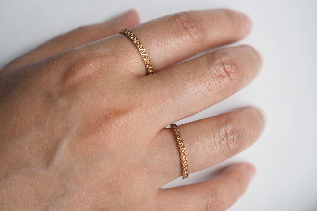 Jewelry - Geometric Stack Rings Set 1 - X and V Ring - Two Perfect Souls