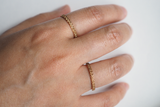 Jewelry - Geometric Stack Rings Set 1 - Crisscross and Triangle - Two Perfect Souls
