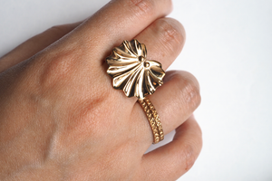 Jewelry - Seashell Fan Ring - Two Perfect Souls