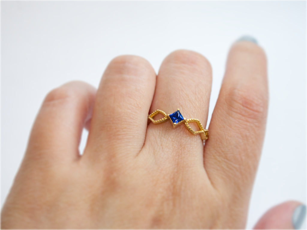 Jewelry - The Spark Ring with Princess Cut Gemstone - Two Perfect Souls