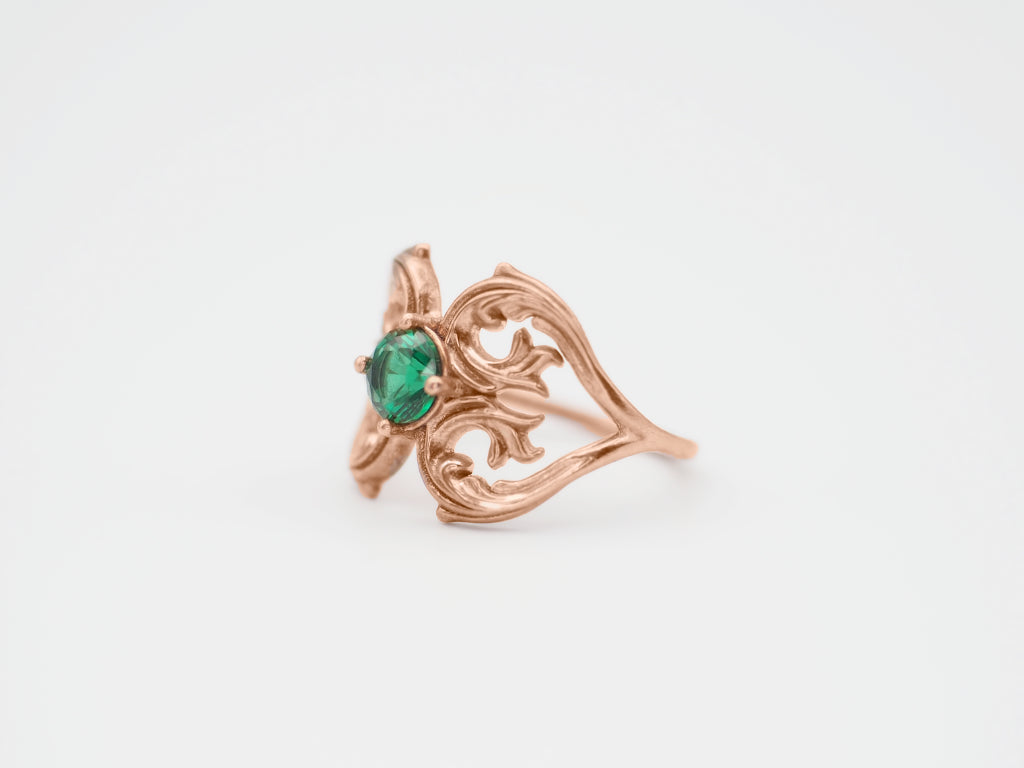 Jewelry - Two Hearts Emerald Ring - Two Perfect Souls