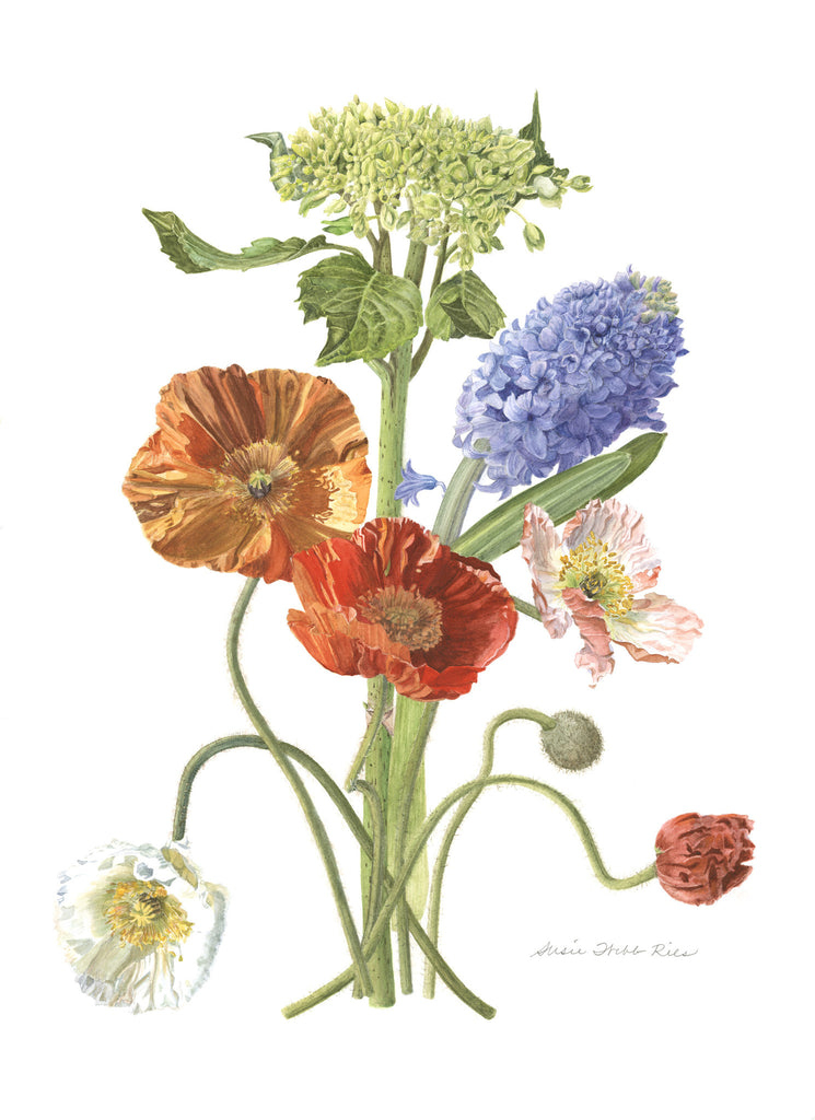 "a.  Mixed Flowers Limited Edition Print, 12"" x 16"""