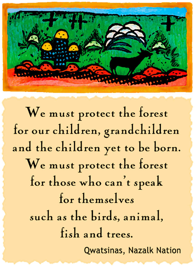 We Must Protect The Forest - Native American #169