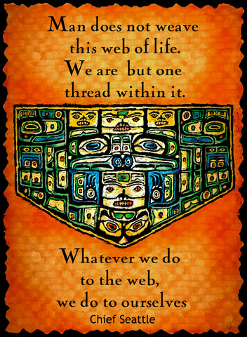 Man Does Not Weave This Web Of Life - Native American #209