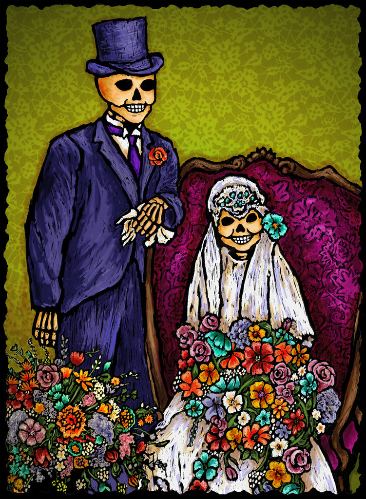 Wedding Couple - Dia De Los Muertos #2117