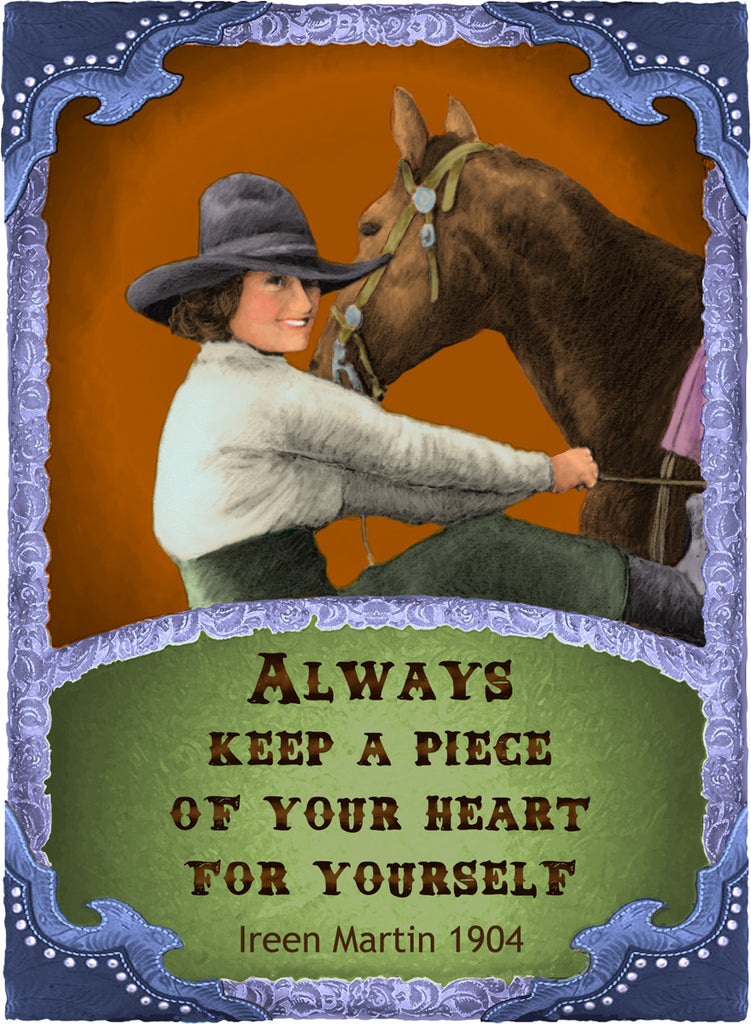 Always Keep A Piece Of Your Heart For Yourself - Cowgirls #545