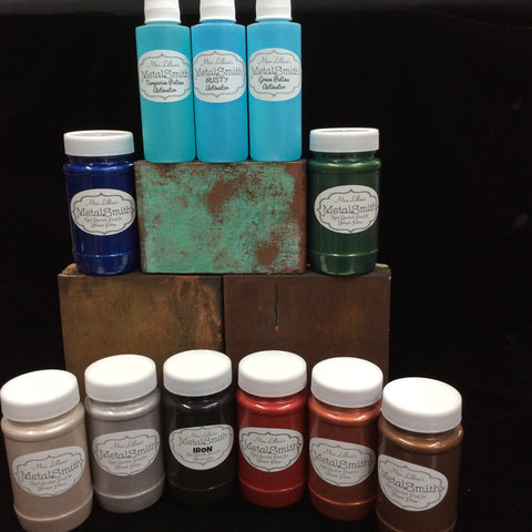 MetalSmith Kit: Reactive Metal Infused Paints with Patina Activator