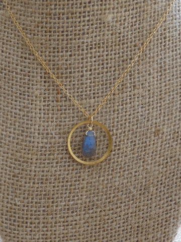 Mini Chloe Necklace - Labradorite
