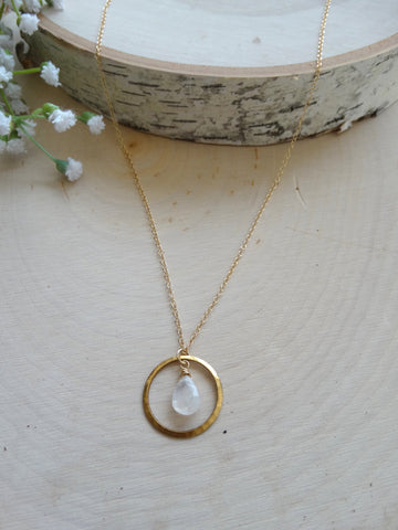 Mini Chloe Necklace - Moonstone