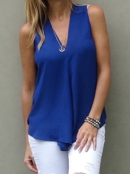 Kinsley Sleeveless Top - Neptune