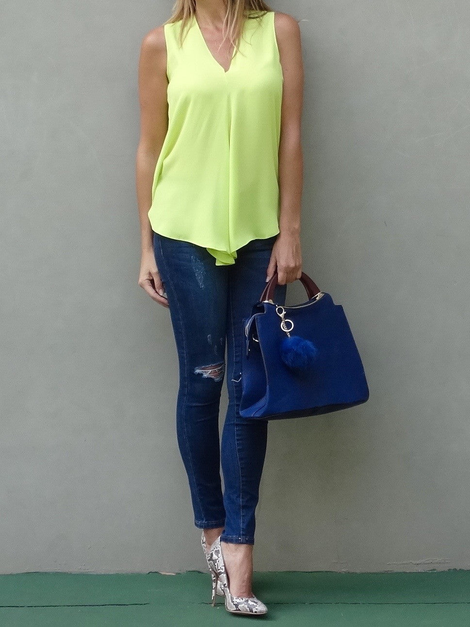 Kinsley Sleeveless Top - Wild Lime