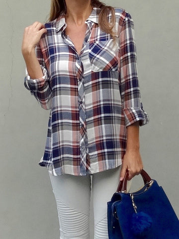 London Plaid Top
