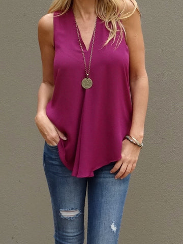 Kinsley Sleeveless Top - Thistle